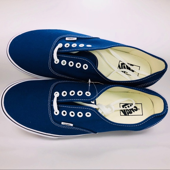 afa98cc3c5ad12 Vans Authentic Estate Blue   True White Sneakers